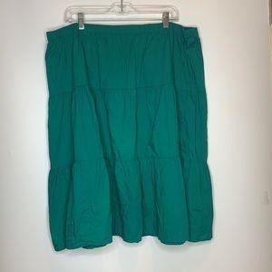 Basic Editions Gauze Tiered Skirt 2X PLUS SIZE
